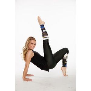 Rese Activewear Pants - Barre Yoga Legging Kori (Jungle Stripe Print)